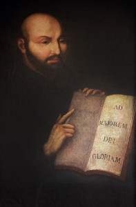 Eighteenth century painting of Ignacio de Loyola (ca. October 27, 1491 – July 31, 1556) from Mission Santa Ynes, California